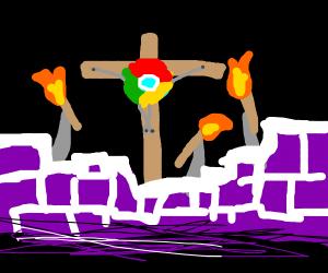 Twitch stream crucifying google chrome