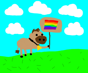 cow w/ no spots representing lgbt people :)