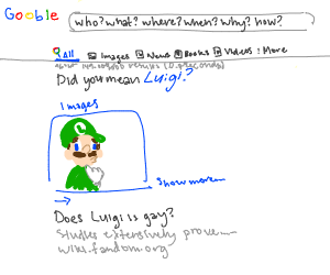 when? where? how? why? The answer is luigi.