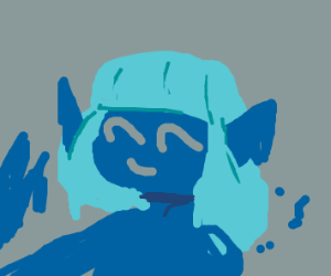 Light blue haired blue blob