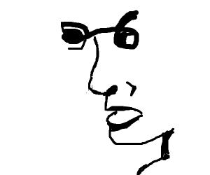 The liar face optical illusion