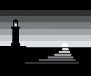 Light above the ocean
