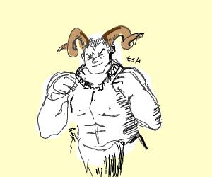Evil Horned Fighter