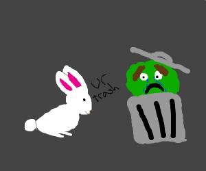 bunny calls oscar the grouch trash