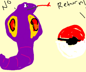 Arbok won't go in his pokeball