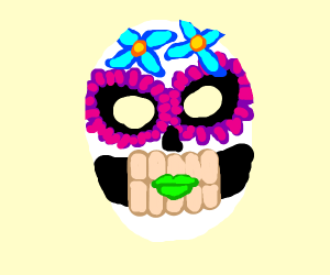 Dia de Muertos mexican death mask