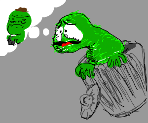 Oscar the grouch misses his father