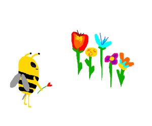The Bachelor, but with bees and flowers.