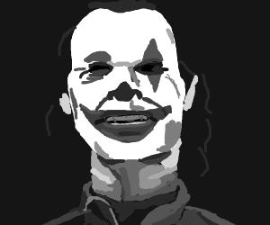 black and white joaquin phoenix joker
