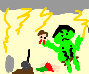 hulk crashes a funeral