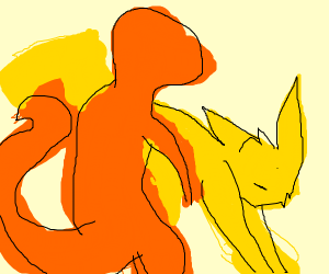 Pokemon game Charmander vs pikachu