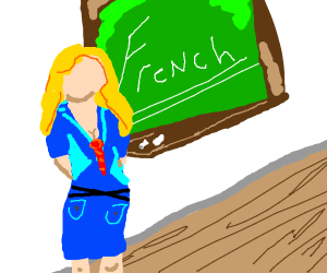French class with super hot teacher