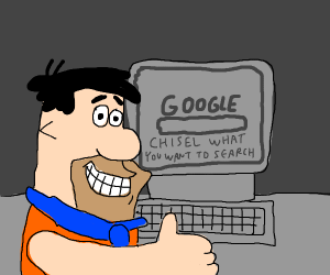 Fred Flinstone loves the internet