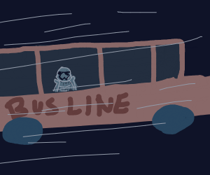 stormtrooper in a bus