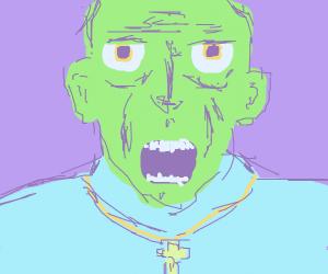 Weird church man