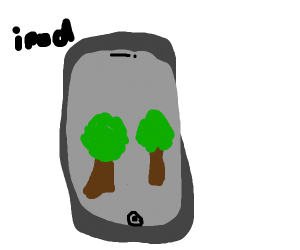 Ipod showing trees
