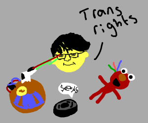 """Michael Reeves says """"Trans Rights"""""""