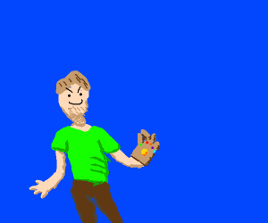 Shaggy has infinity gauntlet at 0.11 power