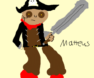 pirate man with massive sword