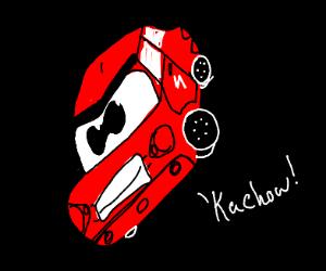 Lightning McQueen in space