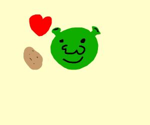 Shrek loves potato