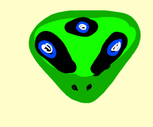 3 eyed green alien