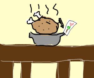 A turkey drawing