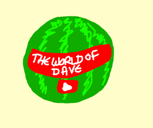 Watermelon w/ sticker of a YT account name