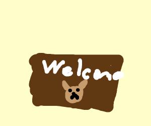 Pet welcome mat