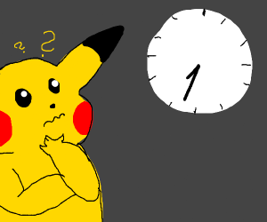 Pikachu knows not the time