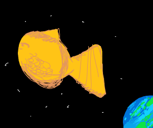 a happy space goldfish