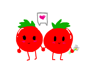 tomatoes in love <3