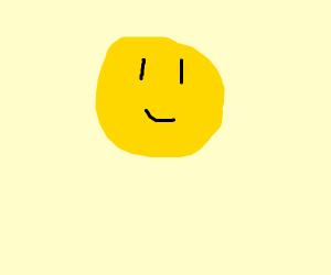 A smiley yellow face