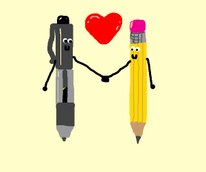 Pencil x Pen <3