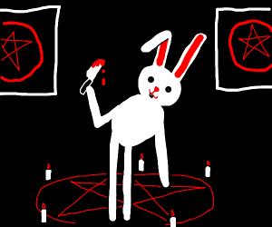 All hail the white bunny, killer of Satan