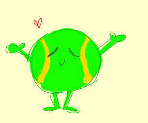 happy ball with arms