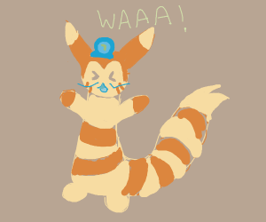 Furret dressed as Waluigi