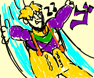 Dio (JJBA) enjoys his water slide