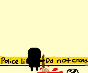 Black dude mops up blood