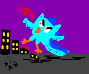 Cyan owldragon
