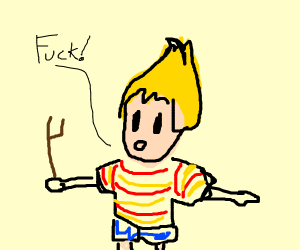 Lucas (Mother 3) says f--- - Drawception