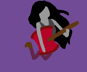 marceline playing her ax guitar