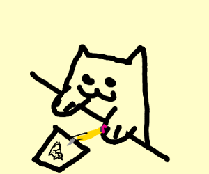 Bongo Cat Drawing Bongos