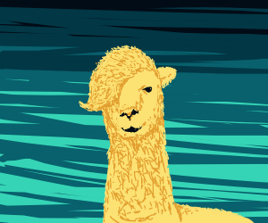 A well drawn alpaca