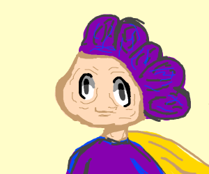 old mineta minoru with raisin hair