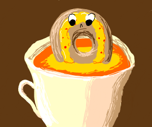 Golden Donut likes piss in a teacup