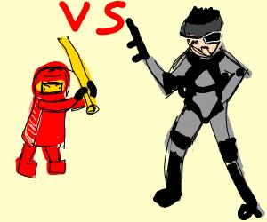 Lego ninja vs snake