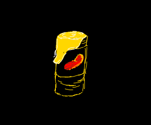 It is a red bean can with yellow on it