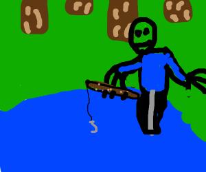 Salad fingers fishing
