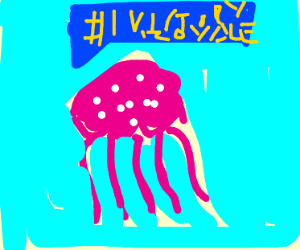 Jellyfish playing Fortnite